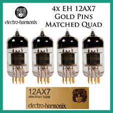 New 4x Electro Harmonix Gold 12AX7 / ECC83 | Matched Quad / Quartet / Four Tubes