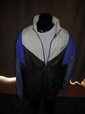Adidas Originals Windbreaker Hoody Rare Mens Size XL Blue GR N RAIN JK Fish Shoe