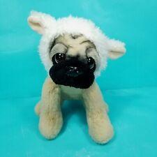"Doug the Pug Puppy Easter Sheep Lamb Costume Plush Stuffed Animal Realistic 9"""