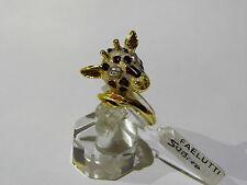 ANELLO ORO 18kt SMALTI giraffa  RING GOLD  GLAZE GOLDRING NAGEL Giraffe