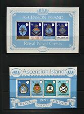 ASCENSION, a collection of 6 different miniature sheets, UM & MM condition.