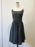 Princess Highway Size 14 Blue White Floral Fit Flare Summer Dress 100% Cotton