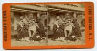 New York Theater Wallack & Dr.W.Black Stereoview Photo Long Branch N.J. dog bird
