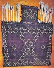 Large vintage Baluch Balouch flatwoven salt bag tribal textile Central Asia EUC