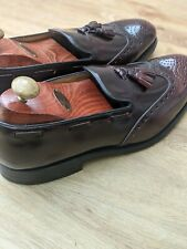 RRP £190 New & Rare Burgundy CharlesTyrwhitt Brogue Tassel Loafers size UK10