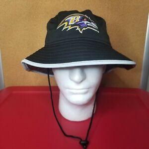 Baltimore Ravens New Era NFL Training Camp Official Bucket Hat Size M/L Black