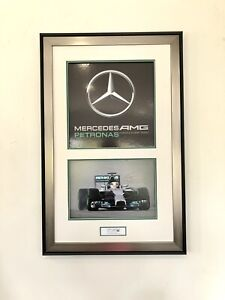 Lewis Hamilton- Mercedes F1 Record 7th Title, Framed and hand signed with COA