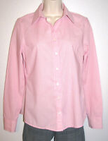 Banana Republic Women's No-Iron Fitted Long Sleeve Pink Stretch Shirt Size 4