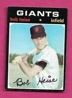 1971 TOPPS # 691 GIANTS BOB HEISE HIGH # EX-MT CARD (INV# A9024)