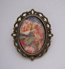 Estilo Vintage Flor Hadas Rosa Hada Broche
