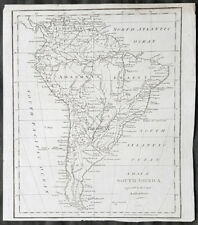 1798 Aaron Arrowsmith Antique Map of South America