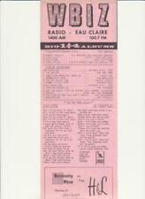 Wbiz- Eau Claire, Wi-Original Top 40 Radio Station Music Survey-October 7, 1968