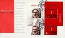 2003 High Court Centenary (Mini Sheet & Stamps) FDC - Perth WA 6000 PMK