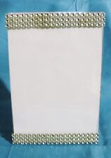 BLING PICTURE FRAME 4 X 6 WEDDING SILVER  RHINESTONE LOOK TABLE NUMBER DISPLAY