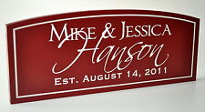 Personalized Family Name Sign Plaque Carved 8x20