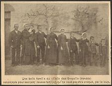 85 LES BROUZILS GENEALOGIE UNE BELLE FAMILLE IMAGE OLD PRINT 1902