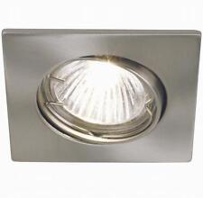 Pack of 3 Recessed Square Downlight Tilt Spotlights In Nickel GU10 Bulbs Incl