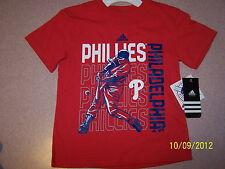 Philadelphia Phillies boy's Adidas tshirt-NWT-size L