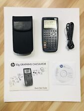 HP 50g Graphing Calculator Complete With Case, CD Guide & Manual - Works Great!