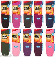 Heat Holders - Mens / Ladies Winter Warm Extra Long Thermal Socks, 6-11 / 4-8 UK