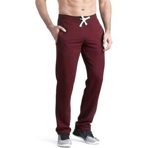 "36"" 38"" LEG EXTRA LONG Red / Burgundy Jogging Joggers Gym Bottoms Mens Big Tall"