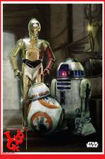 STAR WARS DROIDS Plaque Métal Tin Poster 10 x 14 BB8 C3PO R2D2 metal # NEUF #