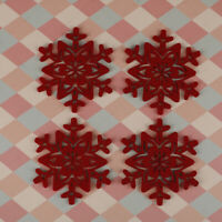 4Pcs Christmas Snowflake Shaped Cup Mat Coaster Anti-Skid Placemat Xmas De xkSVG