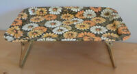 Vintage Tin Serving Tray  Retro Flower Pattern  MarshAllan Mfg Co 1969