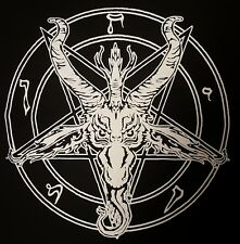 BAPHOMET  PENTAGRAM BLACK METAL BLACK CANVAS BACK PATCH