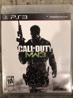Call of Duty: Modern Warfare 3 (Sony PlayStation 3, 2011) Complete w/Manual