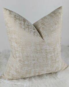"""Abstract Cream Glamorous Cushion Cover """"SERENA"""" Double Sided Modern Design"""