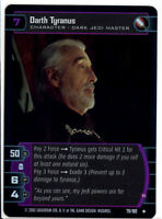 Star Wars AOTC TCG CCG #79 Darth Tyranus  FOIL Card Dark Jedi Master