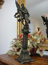 Bronze Marmor Amor & Psyche Engel Jungfrau Statue Schutzengel Skulptur Antik NEU