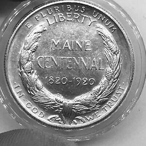 USA 1/2$ 1920 Maine Statehood Centennial KM#146 Silver aVF+