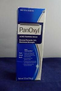 2X PanOxyl Acne Foaming Wash Max Strength 5.5oz Deep Cleaning Wash Exp 22/23