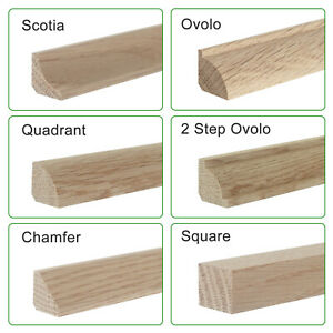 Solid Oak Floor Beading I  0.9m I Corner Edge Bead I 12mm, 15mm, 19mm, 22mm