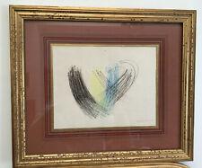 Superbe pastel Hans HARTUNG abstrait peinture contemporain litho art brut signé