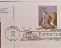 First Day Covers, DISNEY Art of Romance, Set of 4