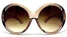 "XXL OVERSIZED ""ALI"" Women Sunglasses  SUPER HUGE ROUND Metal T Gradient Shadz"