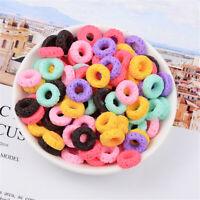 16mm Random Resin Donuts Cabochons Many Colours Flatbacks Craft Accessories 30x