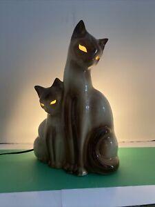 Vintage Marked Kron Siamese TV Lamp Light