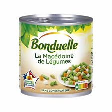 French Delicious Macedonia Canned Vegetables, Bonduelle - 12x200g - Mix & Match