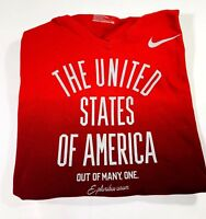 Womens Nike Large Olympic United States Short Sleeve Red Shirt