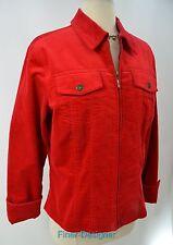CWC Coldwater Creek jacket blazer Red velvet Jean jacket style light Coat PM NEW