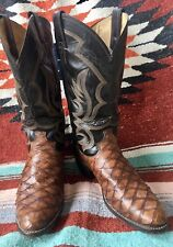 Rare Vintage Justin Anteater Western Cowboy Boots Men's 9.5 D Very Cool