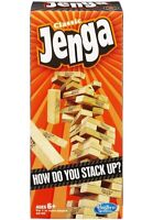Jenga Classic Game By Hasbro Stacking Wooden Tower Blocks FUN Party Family Time