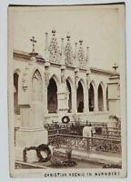 31831CDV Foto De Christian König Nurenberg Um 1870-1880 Monumento Memorial