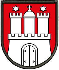 Wappen von Hamburg Patch, Aufnäher, Pin ,Aufbügler.
