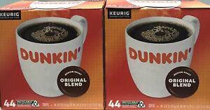 KEURIG K-CUP ( QTY OF 88 ) DUNKIN' DONUTS MEDIUM ROAST ORIGINAL BLEND COFFEE