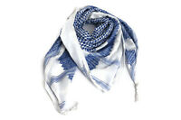 "Hirbawi Scarf 100% Cotton Shemagh Light Blue Keffiyeh 47""x47"" Original Brand New"